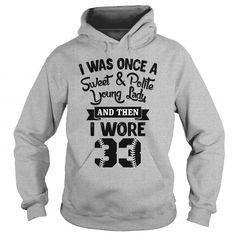 Awesome Tee I worn softball number 33 T shirts
