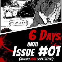 Just 6 days left until the whole world can pig out on Blood Fury Issue #01! Can't wait? Patreon supporters get early access to all Blood Fury comics so consider becoming a donor at: http://ift.tt/2BktwqP. - Or if you can't donate right now support the comic by liking sharing commenting or just hanging out during one of our Livestreams at http://ift.tt/2n4H060. Every little but of support helps. - #bloodfury #comics #comicbook #webcomics #manga #anime #otaku #grayscale #halftone #classic…
