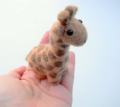 Giraffe Miniature  Needle Felted Animal  Soft by ThePineappleCatz, $25.00