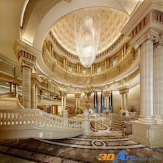 Enhance Your Senses With Luxury Home Decor Mansion Interior, Luxury Homes Interior, Luxury Home Decor, Home Interior Design, Interior Architecture, Palaces, Dream Mansion, Luxury Homes Dream Houses, Grand Staircase