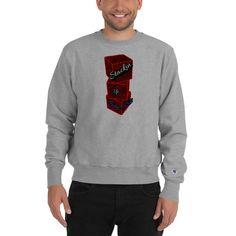 Champion Sweatshirt by HouseofMogul1 on Etsy Champion Brand, Champion Sweatshirt, Bold Prints, Streetwear, Graphic Sweatshirt, Sweatshirts, Mens Tops, Etsy, Fashion