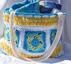 Paid Crochet Pattern Twisted Pinwheel Boho Bag Tote by TheEdgeof17
