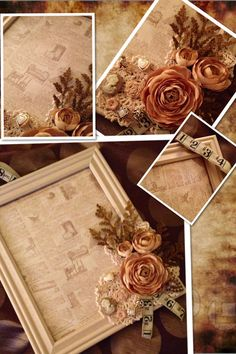 Wreaths With Originality / Vintage Frame