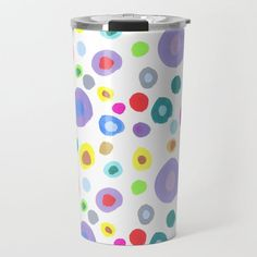 Bubbles Travel Mug by beebeedeigner Best Water Bottle, Stay Hydrated, Drinking Water, Travel Mug, Bubbles, Mugs, Tableware, Design, Art