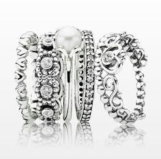 This Pandora ring stack is absolutely stunning.