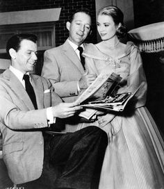 .  Frank Sinatra, Bing Crosby, and Grace Kelly during filming of High Society (1956                                       View Separately   ...