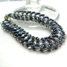 flat spiral stitch bracelet - Google Search