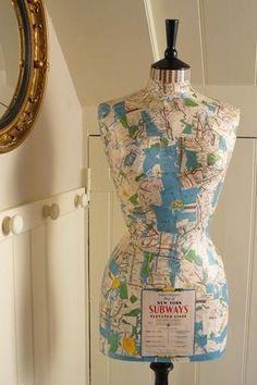 New York subway map mannequin