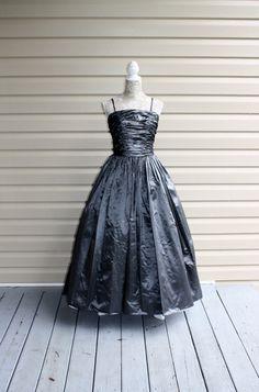 Vintage Prom Dress ALYCE HAMM Paris by OldStuffAndAntiques on Etsy