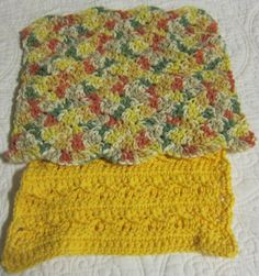 Crochet Dishcloths/Washcloths in Multi Color and by Kitkateden, $6.00