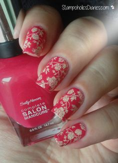 Rose Nails  with Sally Hansen 540 Frutti Petutie