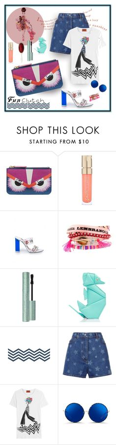 """Fun with Colors"" by michelletheaflack ❤ liked on Polyvore featuring Fendi, Smith & Cult, Hipanema, Too Faced Cosmetics, Kate Spade, Valentino, Missoni, Matthew Williamson, Mason Pearson and clutches"