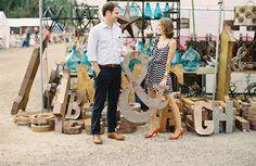 Flea Market Engagement Photos // Photo Credit: Erin McGinn Photography // via Green Wedding Shoes