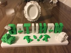 Batuhan'ın bursaspor temalı isimliği hazır www.aslinikahsekerleri.com #kokulutaş #kokulutaşisimlik