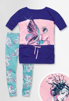 Комплект для девочек, цвет: голубой, купить в интернет-магазине Pelican-style.ru