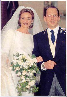Prinses Miriam draagt de Bulgaria tiara bij haar huwelijk met prins Kardam van Bulgarije.