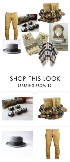 """Out"" by rusticrevivals ❤ liked on Polyvore featuring Burberry and rustic"
