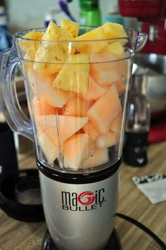 Recipes : Magic Bullet Blog Melon-Pineapple Granita