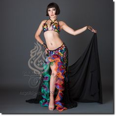 Design by Bella / Model: TIDA / Fig Belly Dance / World Wide Shipping #figbellydance #bellydancecostume #worldwideshipping