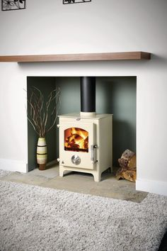 Most recent Photographs Fireplace Hearth carpet Thoughts Trianco Newton 5 British made in Sheffield. Also available in enamel colours. Log Burner Living Room, Log Burner Fireplace, Wood Burning Fireplace Inserts, Fireplace Hearth, Wood Burner, New Living Room, Living Room Decor, White Fireplace, Fireplace Ideas