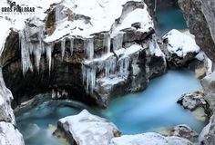 Winter Soča river (Slovenija) by Uros Podlogar Photography on 500px