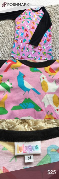 LuLaRoe Randy T Amazing bird randy t!  Only getting rid of it because I changed sizes. EUC. Only worn a couple of times and washed per LLR instructions. LuLaRoe Tops Tees - Long Sleeve