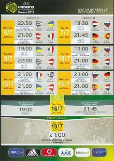 Match_Schedule_EURO_U-19 Match Schedule, Euro