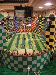 HP Lego Quidditch field. Awesome!