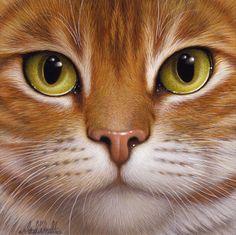 Design is fine. History is mine. — Braldt Bralds, Cats, 1990s. Paintings. Orange...