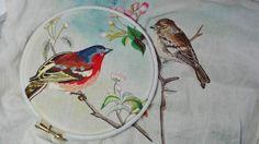 Peinture à l'aiguille réalisée par Jacqueline B.