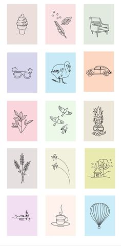 Super cute stickers for decor or a phone case