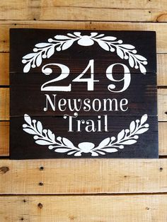 Street Address Sign, Last Name, House Number, Welcome to our home, Pallet Wood Plaque, Outdoor, Housewarming gift, Porch sign, Custom