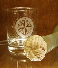 Nautical wine stopper handcrafted using a Turk's head or monkey's fist knot. Perfect for use in the nautical coastal home and private yacht. Clear urethane finished knot for easy maintenance. Made in Portsmouth, VA.