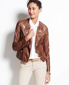 Ann Taylor Leather Moto Jacket