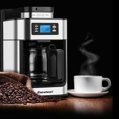 Excelvan 1.25L Automatic Programmable Coffee Maker 10-Cup Coffee Machine 1050W Espresso Cappuccino Coffee Maker Machine CM-6628T #coffee #tea #organic #import #freedelivery #export #gift #nutrition #health #weightloss #remedy #cold #herbal #equiptment #sale #matcha #caffeine #old tea # biscuits #caffieneaddict #nutition #health #detox www.topcoffeeandtea.com