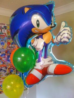 Sonic the Hedgehog Birthday Party Ideas 7th Birthday Boys, Sonic Birthday Parties, Sonic Party, Lego Birthday, Birthday Ideas, Party Ballons, Balloons, Hedgehog Birthday, Party Themes