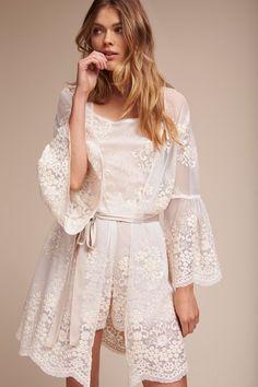 303536066c1 Sunita Robe from  BHLDN --  70 LOVE!!! Lace Bridal Robe