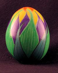 Easter Egg Lily - pattern egg painted by hand for Easter or Christmas