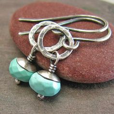 Petite Sleeping Beauty Turquoise Earrings by ConstantCraving