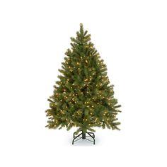 National Tree Company 4 5 Ft Douglas Fir Hinged Pre Lit Artificial Christmas