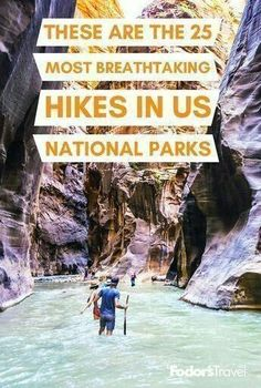 The US is home to 60 National Parks and plenty of hikes. But with the popularity of national parks--more than 331 million visits were tracked last year--you'll sometimes need to go off the beaten path to find the views you'll remember for the rest of your life. We give you an idea of the best hikes with trail level, terrain expectations, and elevation heights gained. Places To Travel, Travel Destinations, Places To Visit, Us National Parks, Zion National Park, National Forest, State Parks, Glamping, Best Hikes