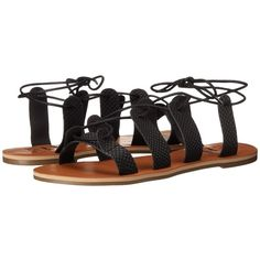 Billabong Beach Brigade Sandal Women's Sandals ($45) ❤ liked on Polyvore featuring shoes, sandals, gladiator sandals shoes, laced up shoes, billabong, billabong shoes and beach sandals