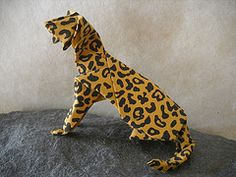 Origami Cats | Origami Leopard 1 - Photo Gallery - Origami Airplanes