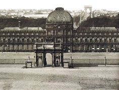 The Tuileries Palace and the Arc de Triomphe du Carrousel circa It was the Paris residence of most French monarchs from Henry IV to Napoleon III, until burned by the Paris Commune in Old Paris, Vintage Paris, Versailles, Tour Eiffel, Concorde, Places Around The World, Around The Worlds, Palais Des Tuileries, French History