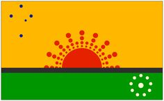 Australian flag proposal _ Mike Seward's design (2013) Aboriginal Flag, Australian Flags, National Flag, Flag Design, Dot Painting, Green And Gold, Flag Ideas, Iphone Cases, How To Apply