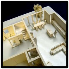 Building Architectural Models floor lay out - foam board model building | modeling