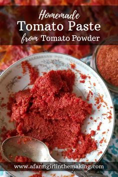 Dehydrated Tomato Peels used to Make Homemade Tomato Paste Tomato Paste Uses, Tomato Paste Recipe, Homemade Tomato Paste, Homemade Egg Noodles, Canning Recipes, Kitchen Recipes, Jar Recipes, Drink Recipes, Dehydrator Recipes
