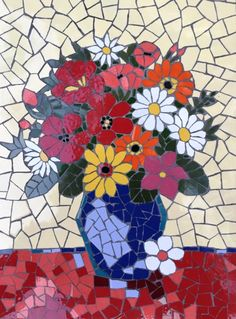 mosaic flowers                                                                                                                                                                                 Mais