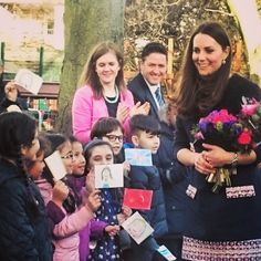 The Duchess of Cambridge officially opened the Clore Art Room today.