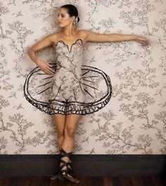 Unusual body art.
